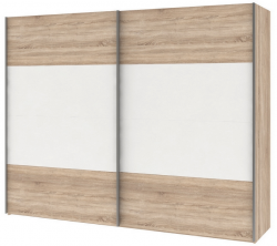 Šatní skříň Ela, dub Sonoma/bílá