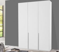 Šatní skříň New York D, 135 cm, bílá/bílý lesk