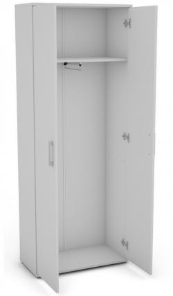 Šatní skříň s výsuvnou tyčí Nitro 2, bílá