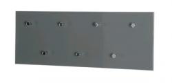 Věšákový panel Edmond 42190, šedý lesk