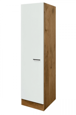 Vysoká kuchyňská skříň Avila GE50, dub lancelot/krémová, šířka 50 cm