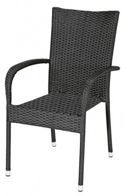 Zahradní židle Paris, černá