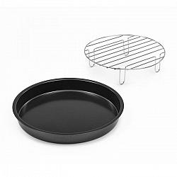 Klarstein AeroVital Cube Chef, talíř na pizzu, vysoký nástavec na grilování, příslušenství, ušlechtilá ocel