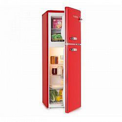 Klarstein Audrey, chladnička s mrazákem, 90 l/ 39 l, retro vzhled, červená