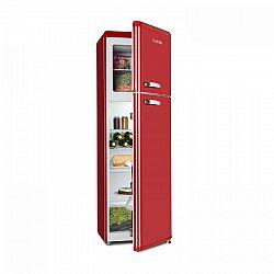 Klarstein Audrey Retro kombinace chladničky s mrazničkou, 194 l / 56 l, A ++, červená