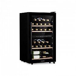 Klarstein Barossa 34D, vinotéka, 2 zóny, 26 lahví, skleněné dveře, dotyková, černá