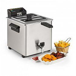Klarstein Family Fry, fritéza, 3000 W, technologie Oil Drain, ušlechtilá ocel, stříbrná