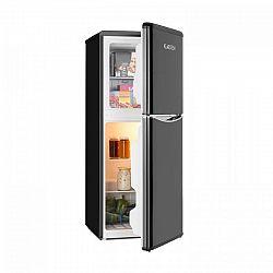 Klarstein Monroe L, kombinovaná chladnička, mrazák, 70 / 38l, A +, retro design, černá