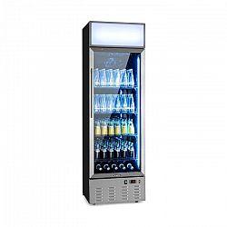 Klarstein Pro Berghain, chladnička na nápoje, 278 l, RGB vnitřní osvětlení, 210 W, 2-8°C, ušlechtilá ocel