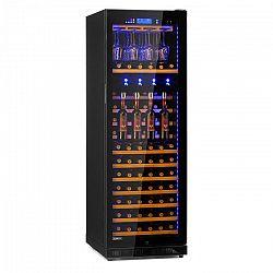 Klarstein Pro First Class 129, vinotéka s dávkovačem, 129 lahví, 5–22 °C, černá