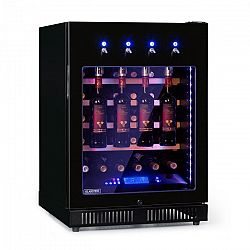 Klarstein Pro First Class 36, chladnička na víno, 4 dispenser, 36 lahví, 5–22 °C, černá