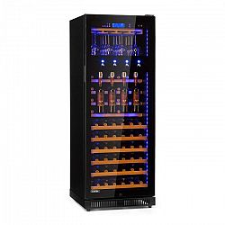 Klarstein Pro First Class 84, chladnička na víno, 4 dispenser, 84 lahví, 5–22 °C, černá