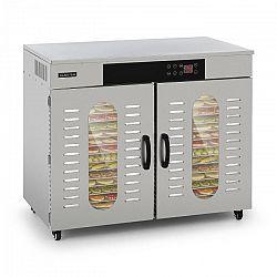 Klarstein Pro Master Jerky 500, sušička potravin, 3000 W, 40 - 90 °C, 24 hod. časovač, ušlechtilá ocel, stříbrná