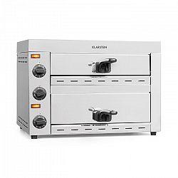 Klarstein Pro Vesuvio II, pec na pizzu, Gastro, 2 komory, 2260 W, 300 °C, ušlechtilá ocel, stříbrná