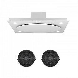 Klarstein Secret Service, odsavač par, vnitřní cirkulace vzduchu, 110 cm, 800 m³/h, filtr s aktivním uhlím, bílá