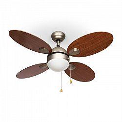 """Klarstein Valderama, třešňové dřevo, stropní ventilátor, 42 """", 60 W, stropní lampa, 2 x 43 W"""