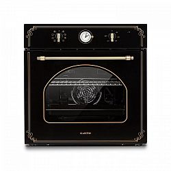 Klarstein Victoria, vestavěná elektrická trouba, retro vzhled, 9 funkcí, 50 - 250 ° C, černá