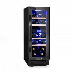Klarstein Vinovilla Onyx17, dvouzónová vinotéka, 53l, 17 lahví, tříbarevné osvětlení, skleněné dveře