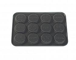 Forma na 12 sušenek Smajlíci Nordic Ware stříbrná