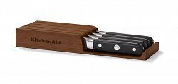Steakové nože v dřevěném úložném boxu KitchenAid 4 ks
