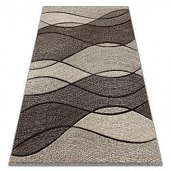 3kraft Kusový koberec FEEL Waves tmavě béžový
