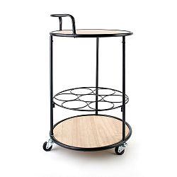 DekorStyle Barový stolek Paul hnědo-černý