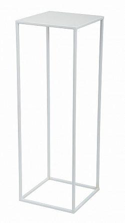 DekorStyle Květinový stojan Charr 70 cm bílý
