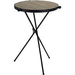 DekorStyle Skládací kulatý stůl Richi černo-hnědý
