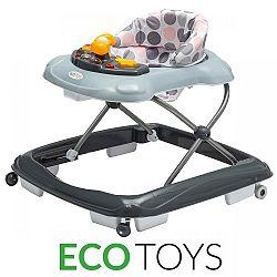 ECOTOYS Dětské vzdělávací chodítko s multimediálním panelem Eco Toys šedé