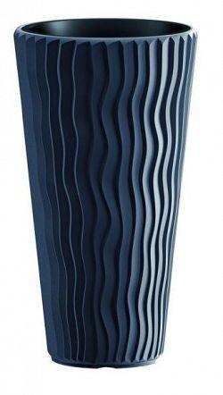 PlasticFuture Květináč Long Sandy tmavě šedý