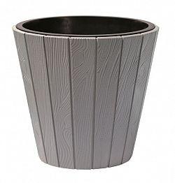 PlasticFuture Květináč z prken Woode šedý