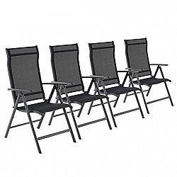 Rongomic Sada čtyř zahradních židlí JULA černá
