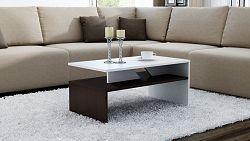 Shoptop Konferenční stolek COLORADO mix tmavě hnědý