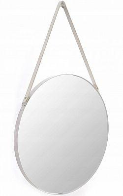 Tutumi Kulaté zrcadlo Loft 50 cm se závěsným páskem bílá