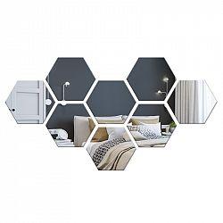 TZB Dekorativní akrylové zrcadlo Hex - stříbrné