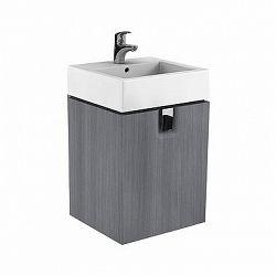 Umyvadlová skříňka KOŁO TWINS - závěsná, stříbrný grafit