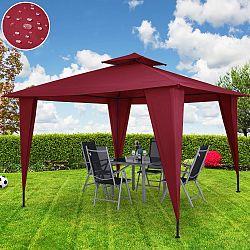 VivaDe Zahradní altán Sairee 3,5m x 3,5m červený