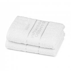 4Home Bamboo Premium ručník bílá, 50 x 100 cm, sada 2 ks