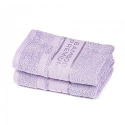 4Home Bamboo Premium ručník světle fialová, 50 x 100 cm, sada 2 ks