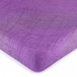 4Home froté prostěradlo fialová, 160 x 200 cm