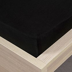 4Home jersey prostěradlo černá, 160 x 200 cm