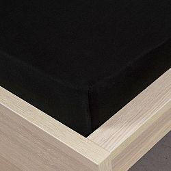 4Home jersey prostěradlo černá, 180 x 200 cm