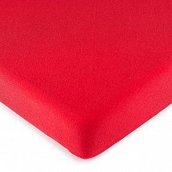 4Home jersey prostěradlo červená, 180 x 200 cm