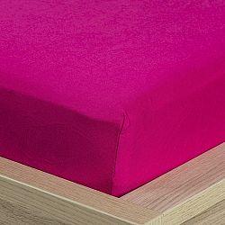 4Home jersey prostěradlo růžová, 180 x 200 cm