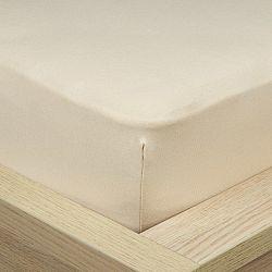 4Home Jersey prostěradlo s elastanem béžová, 90 x 200 cm
