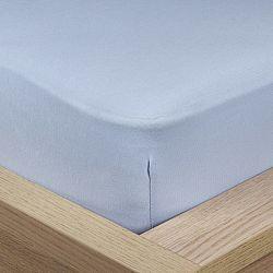 4Home Jersey prostěradlo s elastanem modrá, 90 x 200 cm