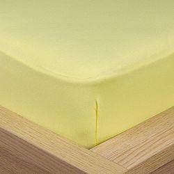 4Home Jersey prostěradlo s elastanem žlutá, 90 x 200 cm