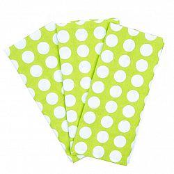 4Home Kuchyňská utěrka Zelený puntík, 45 x 70 cm, sada 3 ks