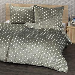 4Home povlečení mikroflanel Stars šedá, 160 x 200 cm, 2x 70 x 80 cm, 160 x 200 cm, 2 ks 70 x 80 cm