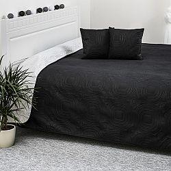4Home Přehoz na postel Doubleface bílá/černá, 220 x 240 cm, 40 x 40 cm